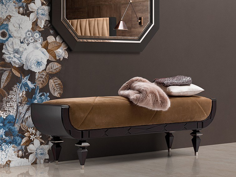 Upholstered leather bench GRAN DUCA | Bench by Prestige