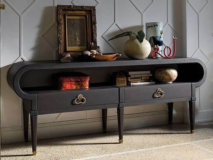 Rectangular oak console table with drawers GRAN DUCA | Console table with drawers by Prestige