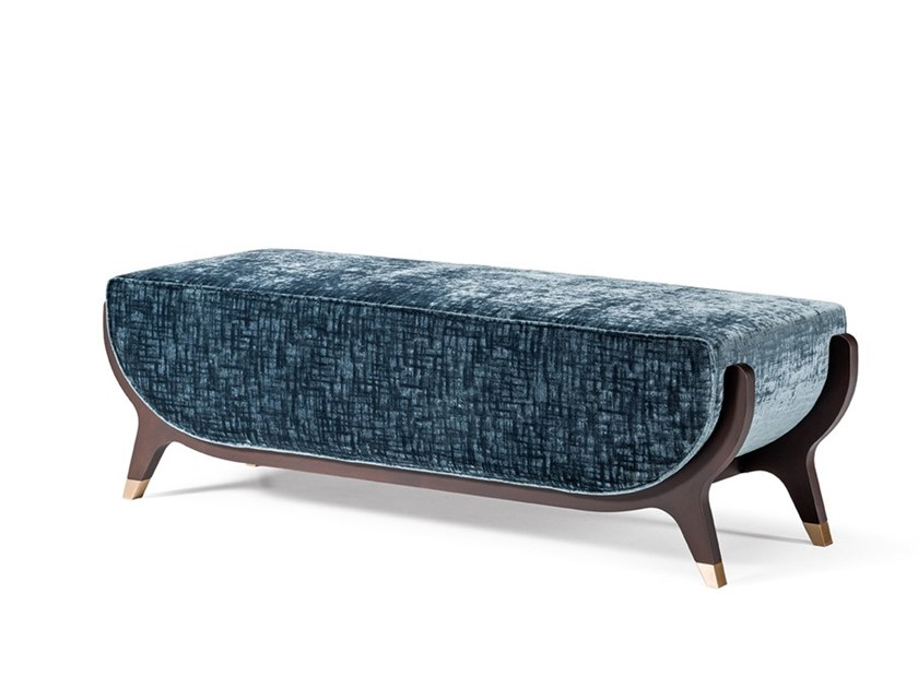Upholstered fabric bench GRAN DUCA | Fabric bench by Prestige