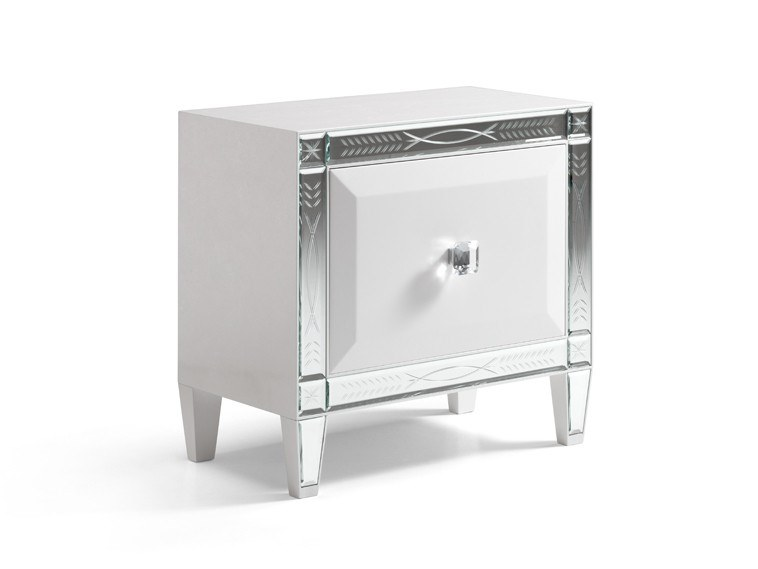 Rectangular bedside table with drawers GRAN DUCA GLOW | Bedside table by Prestige