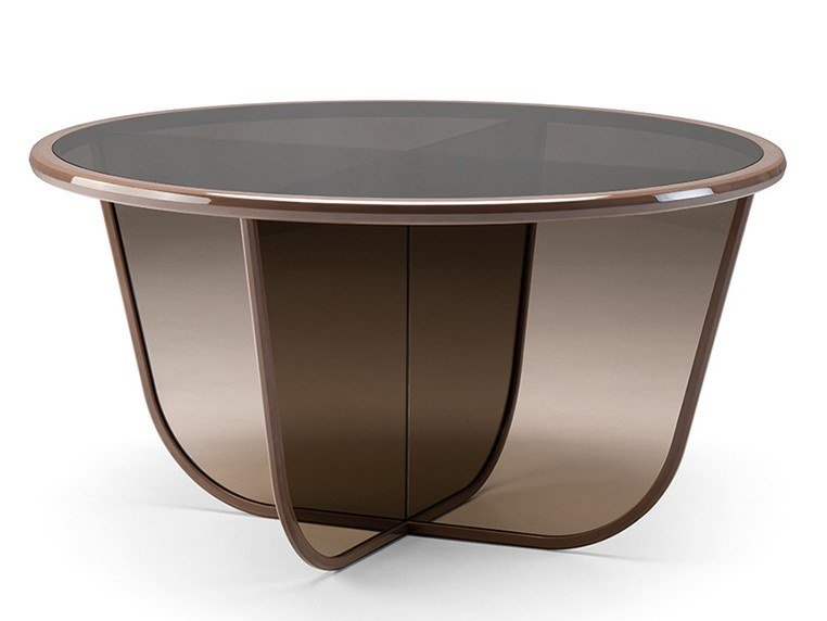 Round glass table GRAN DUCA   Glass table by Prestige