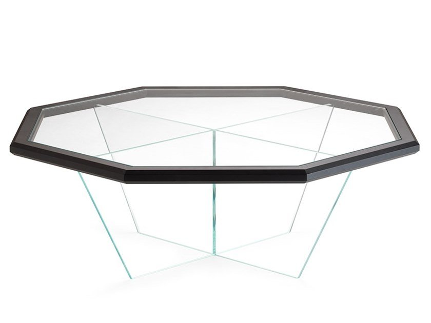Octagonal glass coffee table for living room GRAN DUCA | Octagonal coffee table by Prestige