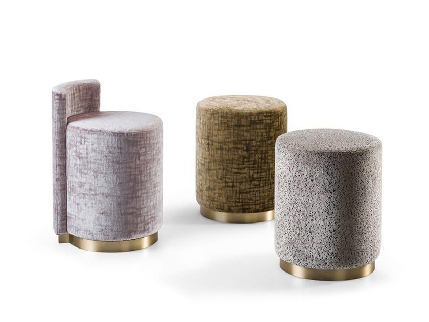 Round fabric pouf GRAN DUCA   Pouf by Prestige