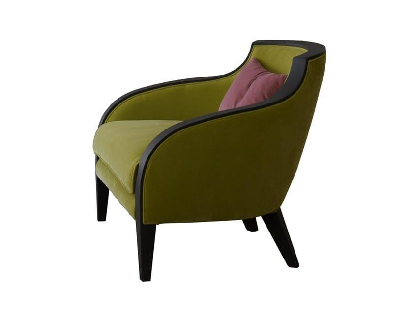 Velvet armchair with armrests GRAN DUCA   Velvet armchair by Prestige