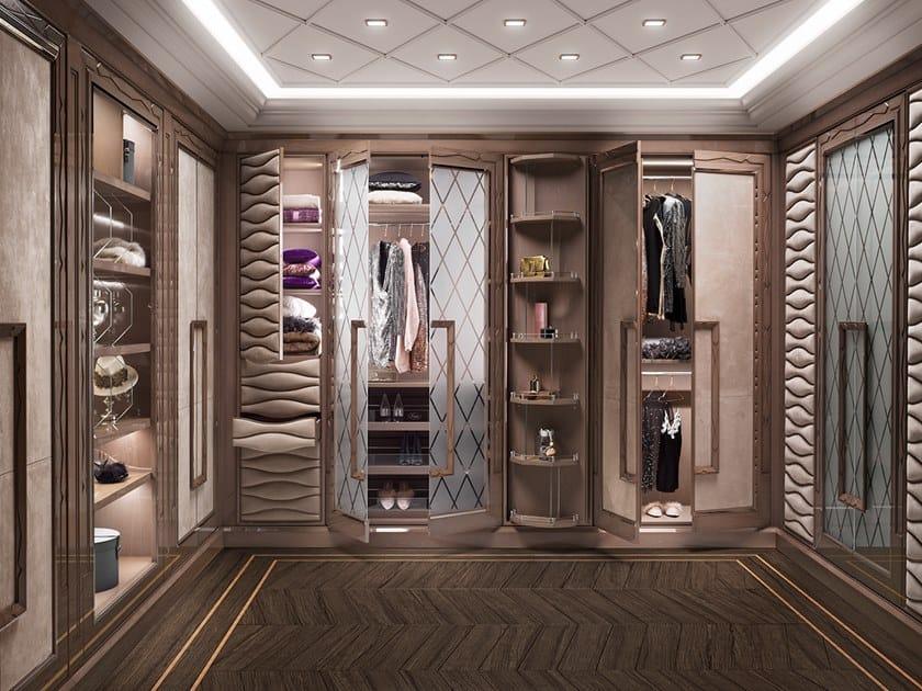 Wooden walk-in wardrobe GRAN DUCA | Walk-in wardrobe by Prestige