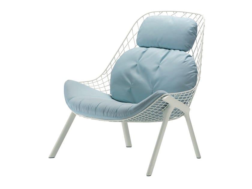 Powder coated steel garden armchair GRAN KOBI - 035_O by Alias