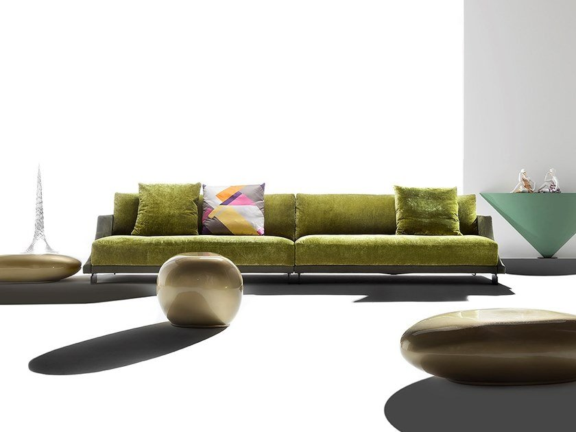 Fabric sofa GRAN MILANO by ERBA ITALIA