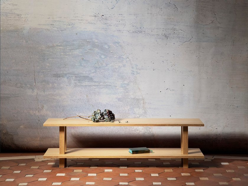 Oak & solid wood bench GRAND BANC by Objets Architecturaux
