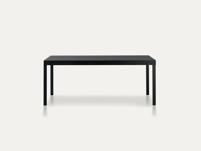 Extending lacquered aluminium table GRAND ECART | Extending table by Pallucco