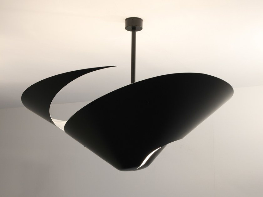 Metal ceiling lamp GRAND ESCARGOT by Serge Mouille