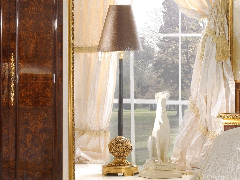Imitation leather floor lamp GRAND ROYAL | Imitation leather floor lamp by A.R. Arredamenti