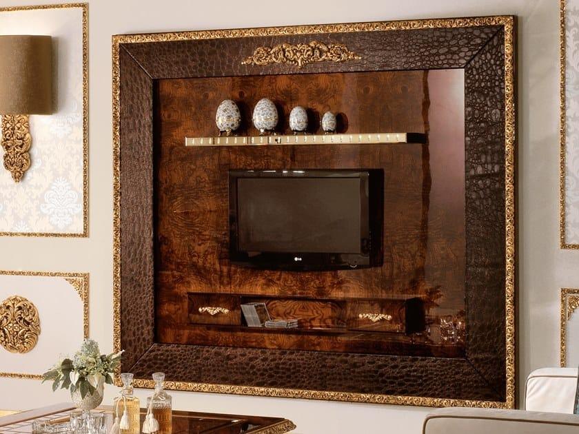 Wall-mounted TV wall system GRAND ROYAL   Storage wall by A.R. Arredamenti
