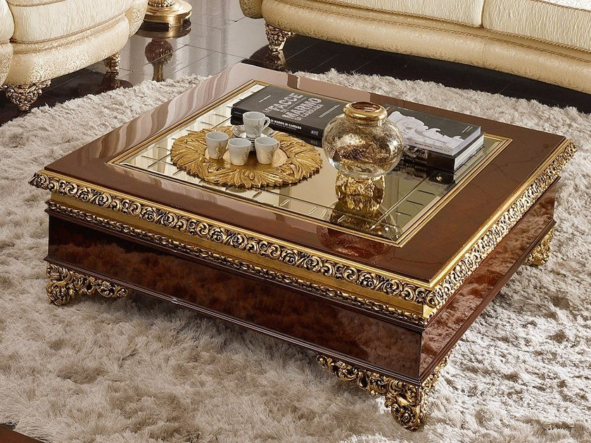 Square coffee table GRAND ROYAL   Square coffee table by A.R. Arredamenti