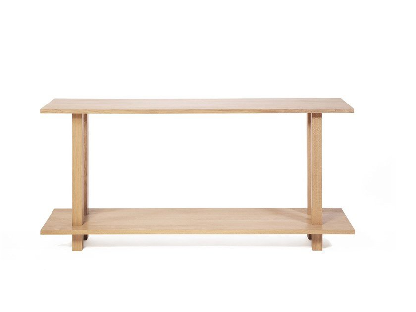 Rectangular oak and solid wood console table GRANDE CONSOLE HAUTE | Wooden console table by Objets Architecturaux