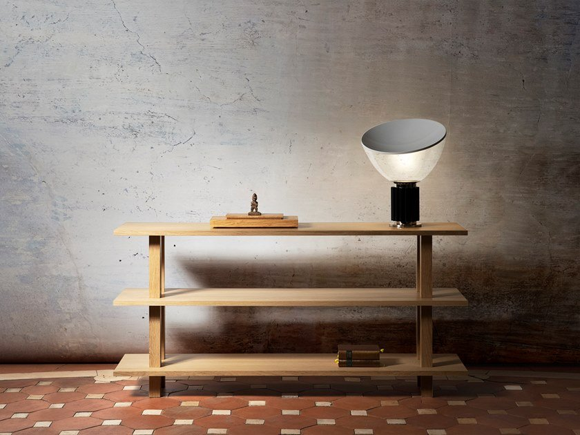 Rectangular oak and solid wood console table GRANDE CONSOLE   Wooden console table by Objets Architecturaux