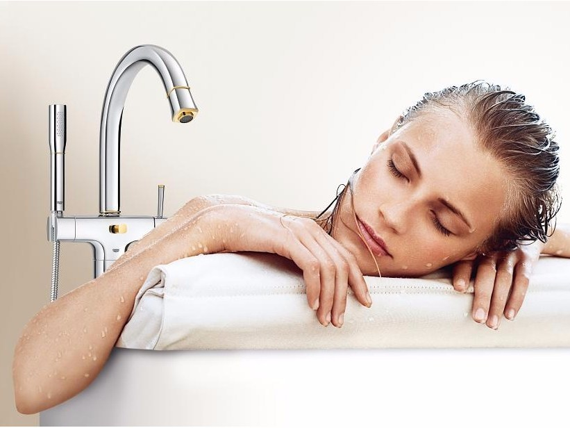 GRANDERA™ 23318_ | Miscelatore per vasca 23318IG0 | Chrome/Gold
