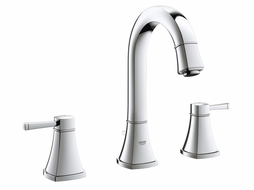 3 hole countertop washbasin tap with pop up waste GRANDERA™ SIZE M | Washbasin tap by Grohe