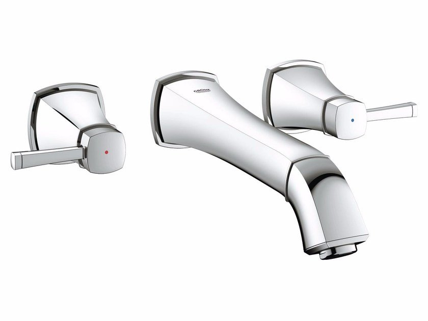 3 hole washbasin tap GRANDERA™ SIZE M | Wall-mounted washbasin tap by Grohe