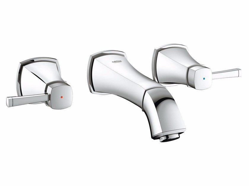 3 hole wall-mounted washbasin tap GRANDERA™ SIZE S | Wall-mounted washbasin tap by Grohe
