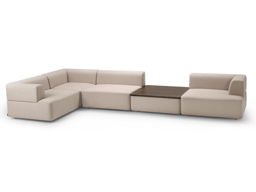Corner modular fabric sofa GRANDFIELD | Modular sofa by Offecct