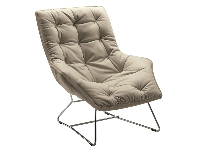 Leather armchair with removable cover GRANDTOUR 897 by Zanotta