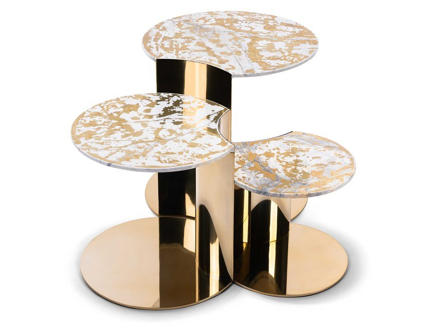 Round steel coffee table GRANGER by Visionnaire