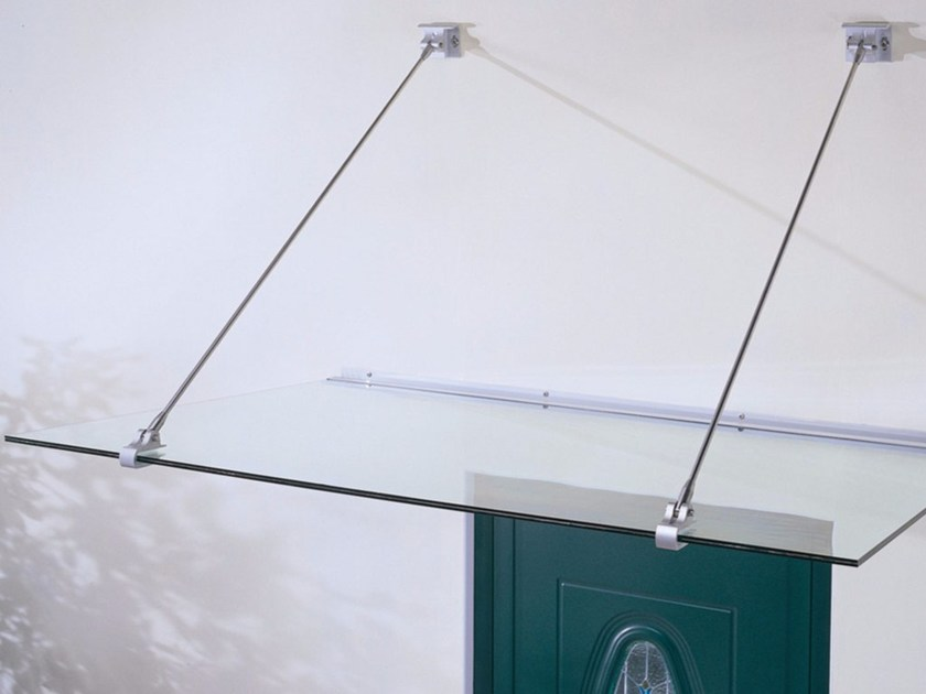 Glass and Stainless Steel door canopy GRAN SASSO by FARAONE