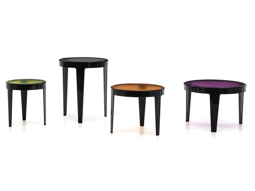 Tavolino rotondo in metallo GRANT by Minotti