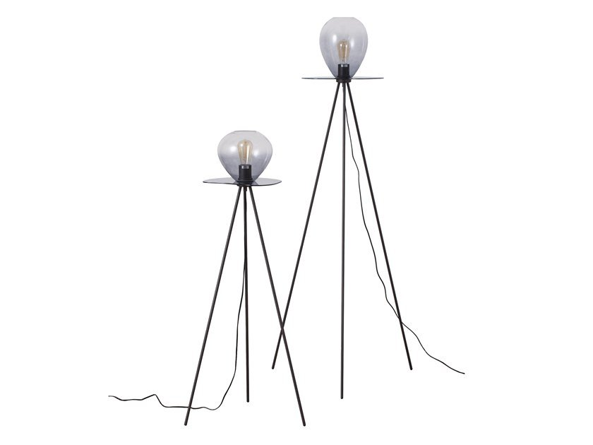 Glass and steel floor lamp GRAPES | Floor lamp by MUMOON