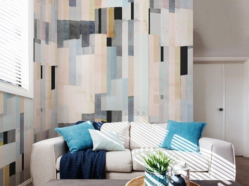 Striped panoramic JET TEX wallpaper WATERCOLOR   Wallpaper by ACTE-DECO