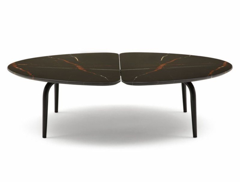 Low marble coffee table GRAPHIUM   Coffee table by Zanotta