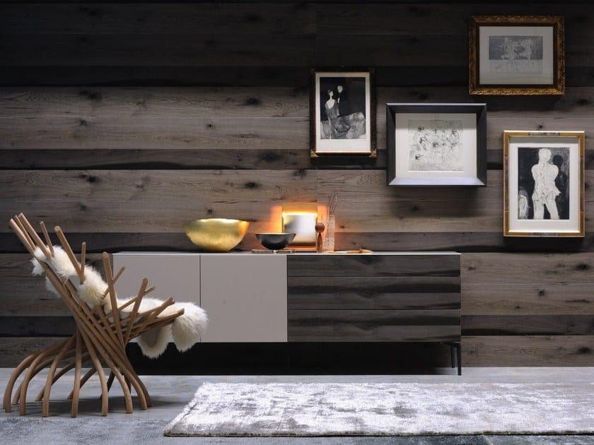 Madia laccata in legno in stile moderno con ante a ribalta con cassetti GRAPHOS   Madia in legno by Silenia