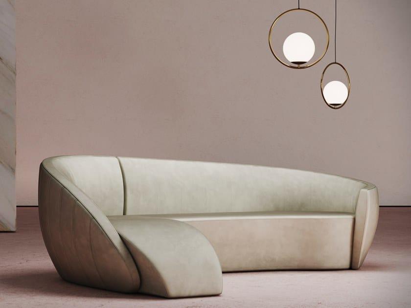 Curved sofa GRAVITY CORNER SOFA by Desforma