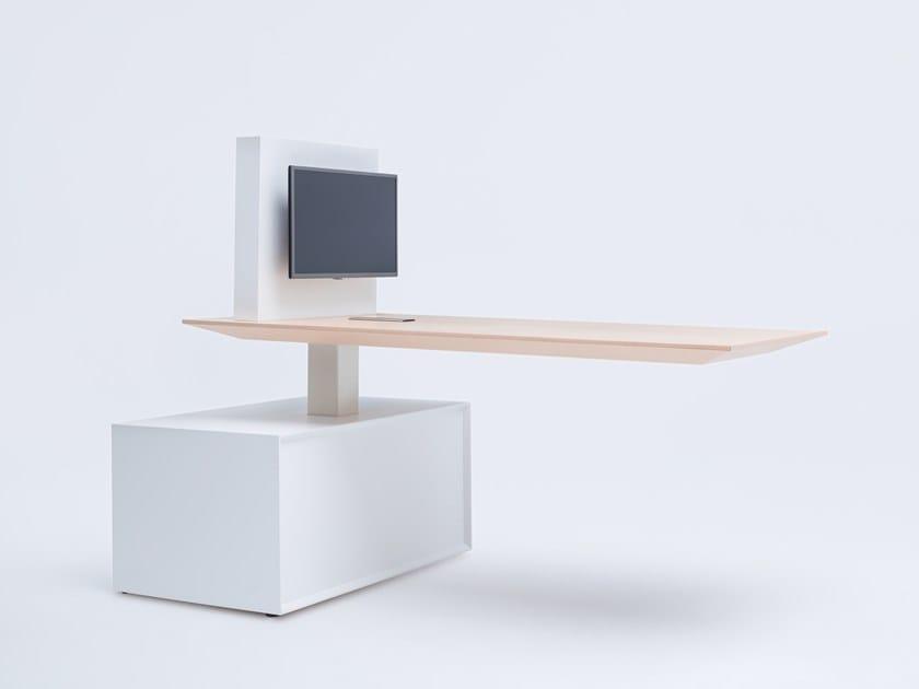 Multimedia rectangular meeting table GRAVITY   Multimedia meeting table by MDD