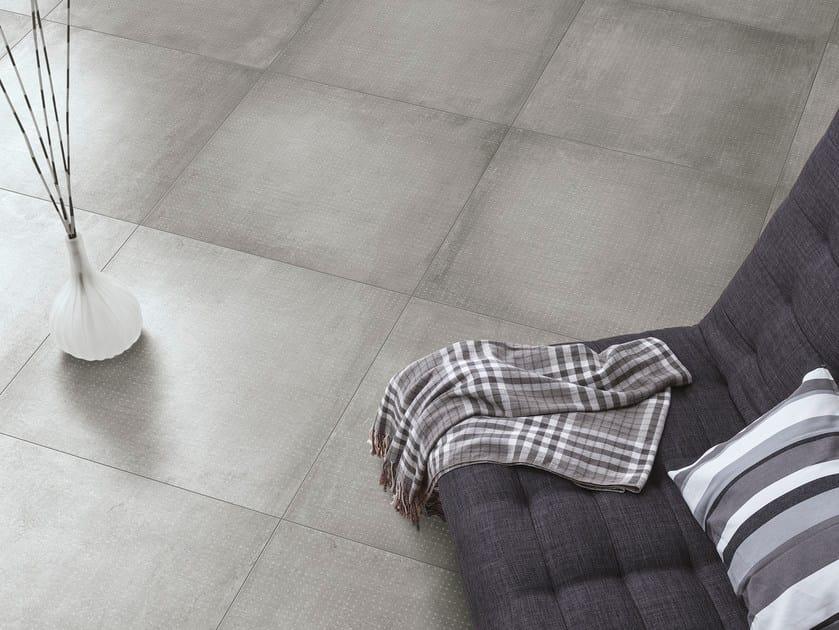 Glazed stoneware flooring with concrete effect GRAVITY | Flooring by Ceramica Cercom