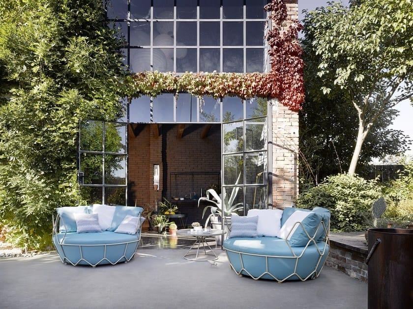 2 seater fabric garden sofa GRAVITY | Sofa by Roberti Rattan