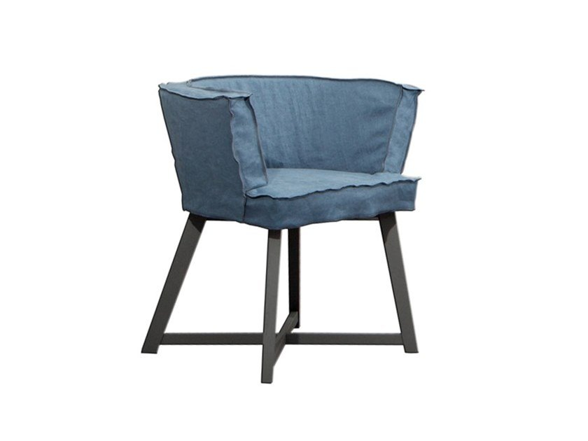 Fabric easy chair with removable cover GRAY 26 by Gervasoni