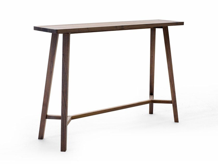 Rectangular walnut console table GRAY 61 by Gervasoni