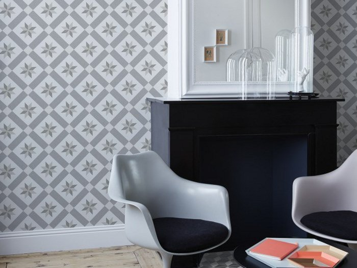 Wallpaper GRAY CIMENT TILES by Koziel