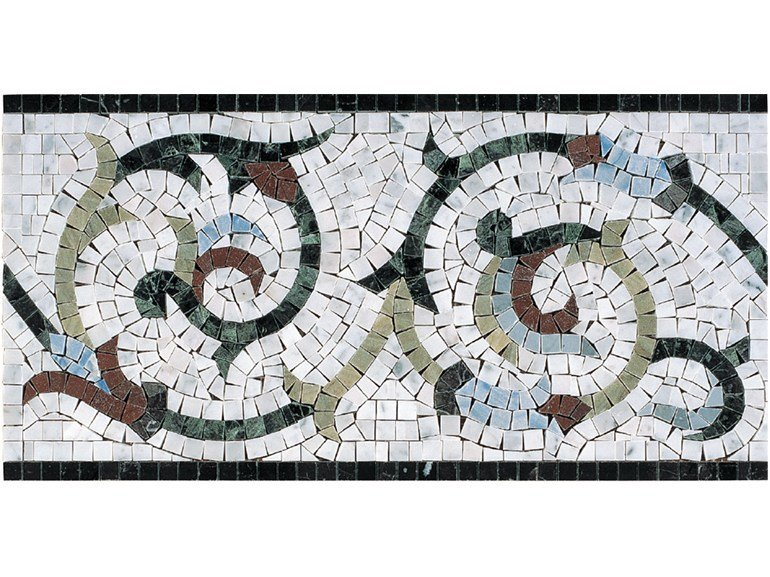 Marble mosaic GRECHE - CHATILLON by Lithos Mosaico Italia