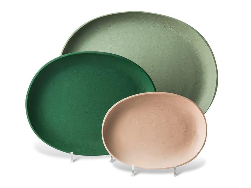 Oval powder coated aluminium tray GREEK by Pols Potten