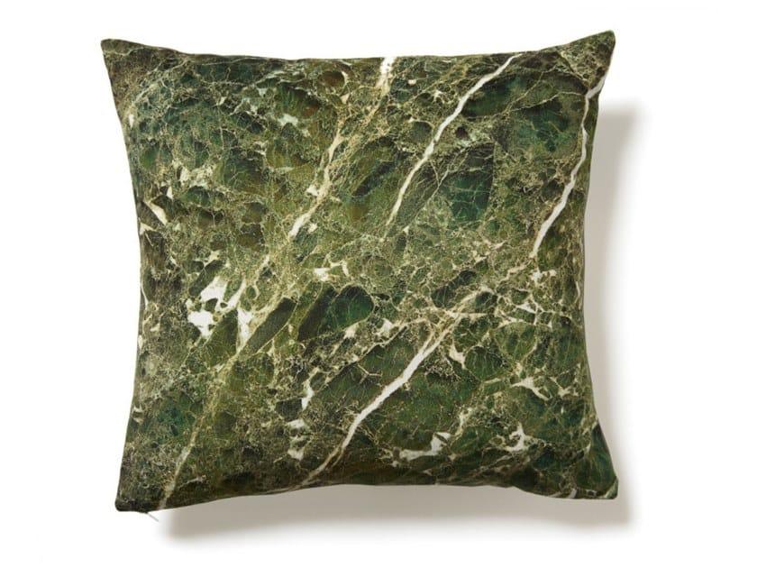 Square polyester cushion GREEN EMPERADOR | Cushion by Koziel