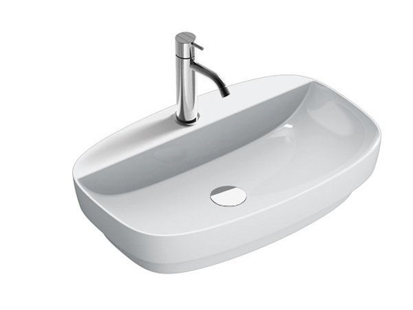 Semi-inset ceramic washbasin GREEN LUX | Ceramic washbasin by CERAMICA CATALANO