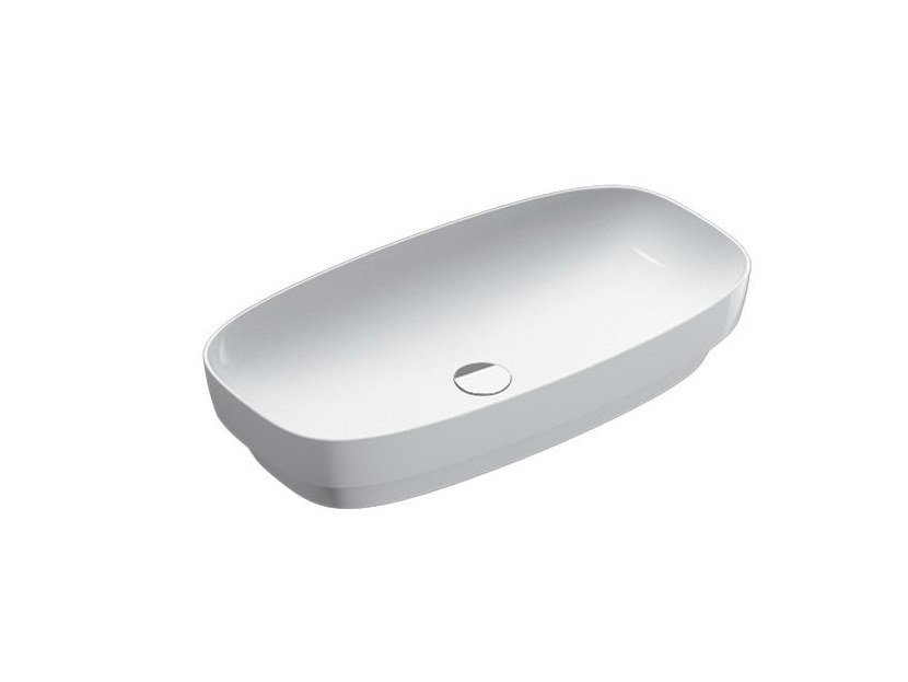Semi-inset ceramic washbasin GREEN LUX | Semi-inset washbasin by CERAMICA CATALANO