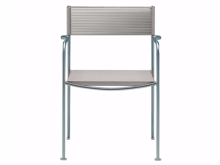 Garden chair with armrests GREEN PVC - 201_O by Alias