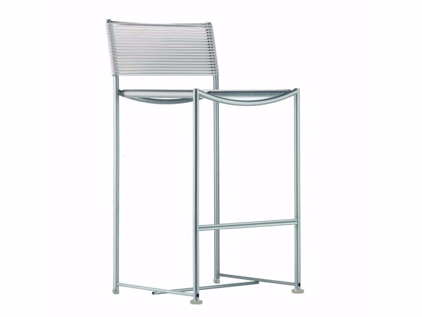 PVC garden stool with back GREEN PVC - 204_O by Alias