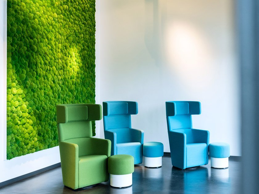 Moss indoor vertical garden GREENHILL MOSS WALLS by Freund GmbH