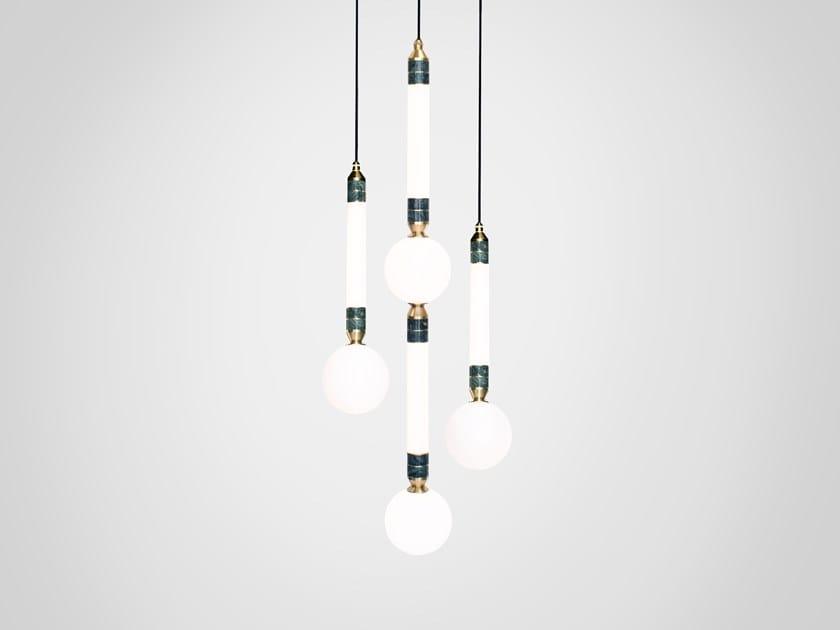 LED pendant lamp GREENSTONE CLUSTER 3 by Marc Wood Studio