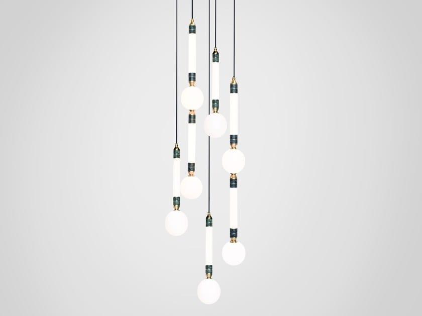 LED pendant lamp GREENSTONE CLUSTER 5 by Marc Wood Studio