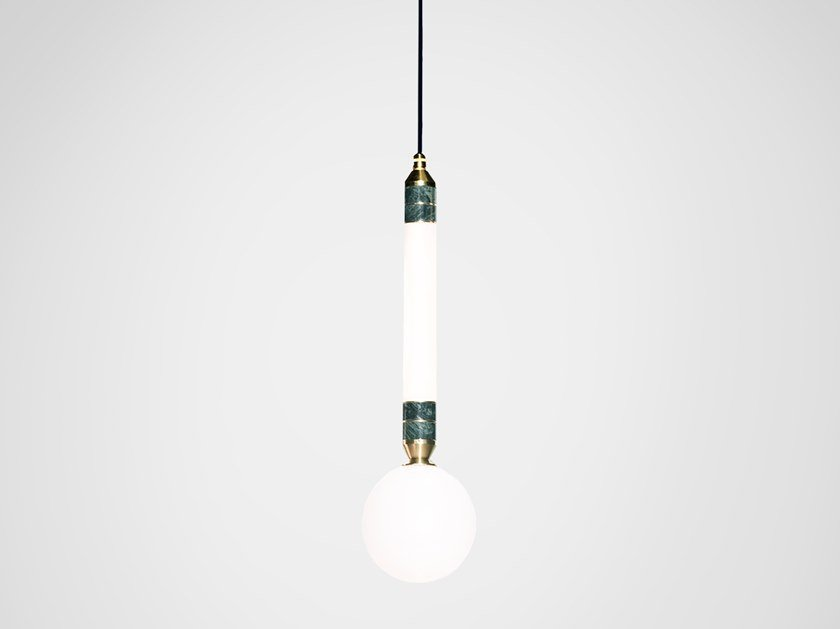 LED pendant lamp GREENSTONE SMALL by Marc Wood Studio